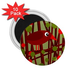 Red cute bird 2.25  Magnets (10 pack)