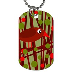 Red cute bird Dog Tag (Two Sides)