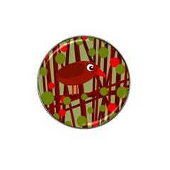 Red cute bird Hat Clip Ball Marker (4 pack)