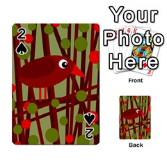 Red cute bird Playing Cards 54 Designs