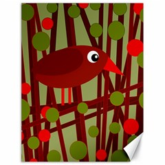 Red cute bird Canvas 18  x 24