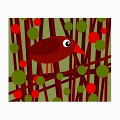 Red cute bird Small Glasses Cloth (2-Side)