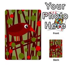 Red cute bird Multi-purpose Cards (Rectangle)
