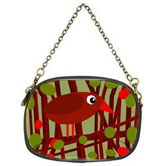 Red cute bird Chain Purses (One Side)