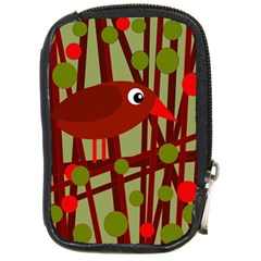 Red cute bird Compact Camera Cases