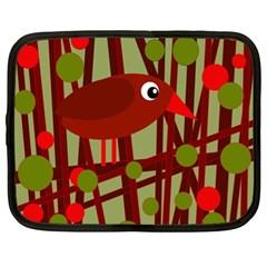 Red cute bird Netbook Case (XL)