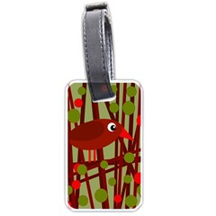 Red cute bird Luggage Tags (Two Sides)