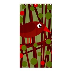 Red cute bird Shower Curtain 36  x 72  (Stall)