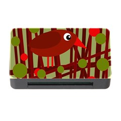 Red cute bird Memory Card Reader with CF