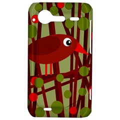 Red cute bird HTC Incredible S Hardshell Case