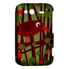 Red cute bird HTC Wildfire S A510e Hardshell Case