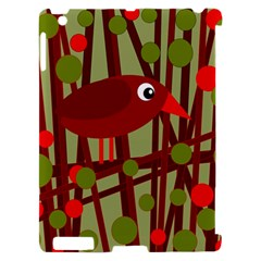 Red cute bird Apple iPad 2 Hardshell Case (Compatible with Smart Cover)