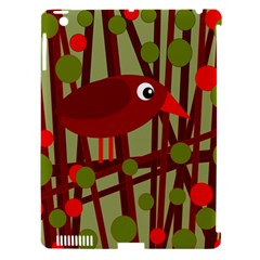 Red cute bird Apple iPad 3/4 Hardshell Case (Compatible with Smart Cover)