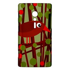 Red cute bird Sony Xperia ion
