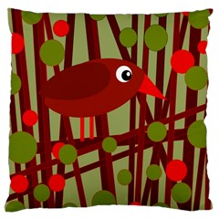 Red cute bird Large Cushion Case (One Side)