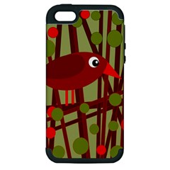 Red cute bird Apple iPhone 5 Hardshell Case (PC+Silicone)