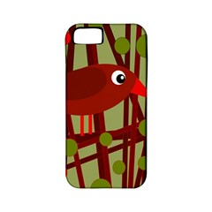 Red cute bird Apple iPhone 5 Classic Hardshell Case (PC+Silicone)