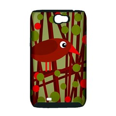 Red cute bird Samsung Galaxy Note 2 Hardshell Case (PC+Silicone)