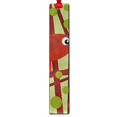 Red cute bird Large Book Marks