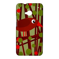Red cute bird HTC One M7 Hardshell Case