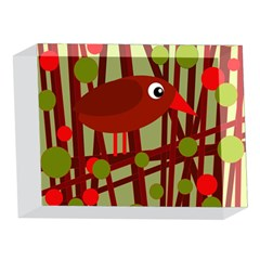 Red cute bird 5 x 7  Acrylic Photo Blocks