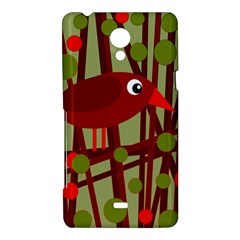 Red cute bird Sony Xperia T