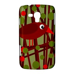 Red cute bird Samsung Galaxy Duos I8262 Hardshell Case