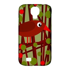 Red cute bird Samsung Galaxy S4 Classic Hardshell Case (PC+Silicone)