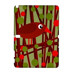Red cute bird Samsung Galaxy Note 10.1 (P600) Hardshell Case