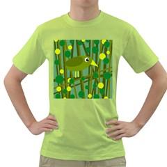 Cute green bird Green T-Shirt