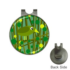 Cute green bird Hat Clips with Golf Markers