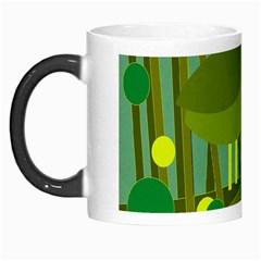 Cute green bird Morph Mugs
