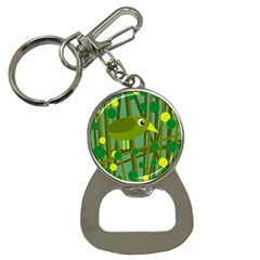 Cute green bird Bottle Opener Key Chains