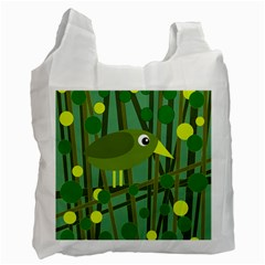 Cute green bird Recycle Bag (Two Side)