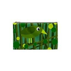 Cute green bird Cosmetic Bag (Small)