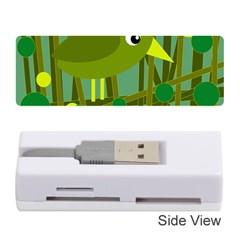Cute green bird Memory Card Reader (Stick)