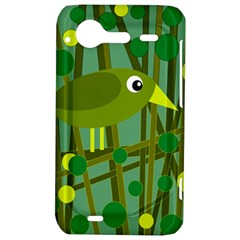 Cute green bird HTC Incredible S Hardshell Case