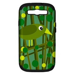Cute green bird Samsung Galaxy S III Hardshell Case (PC+Silicone)
