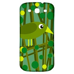 Cute green bird Samsung Galaxy S3 S III Classic Hardshell Back Case