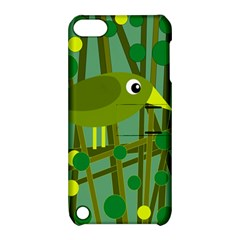 Cute green bird Apple iPod Touch 5 Hardshell Case with Stand