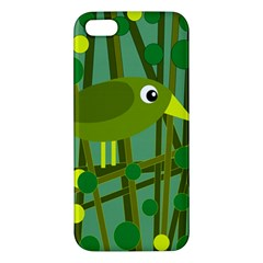 Cute green bird Apple iPhone 5 Premium Hardshell Case