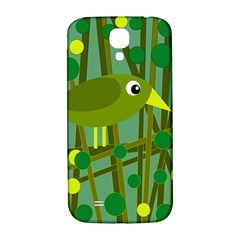 Cute green bird Samsung Galaxy S4 I9500/I9505  Hardshell Back Case