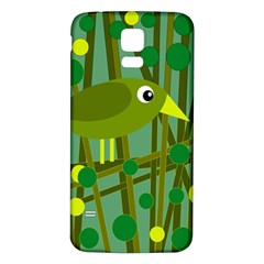 Cute green bird Samsung Galaxy S5 Back Case (White)