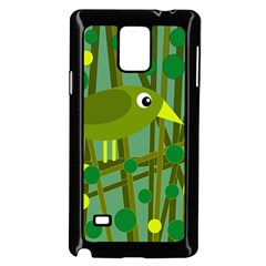 Cute green bird Samsung Galaxy Note 4 Case (Black)