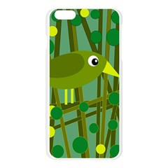 Cute green bird Apple Seamless iPhone 6 Plus/6S Plus Case (Transparent)