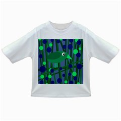 Green and blue bird Infant/Toddler T-Shirts