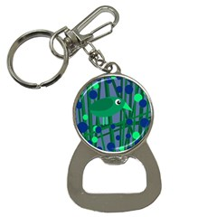 Green and blue bird Bottle Opener Key Chains