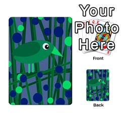 Green and blue bird Multi-purpose Cards (Rectangle)