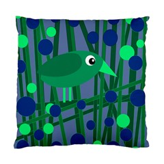 Green and blue bird Standard Cushion Case (One Side)