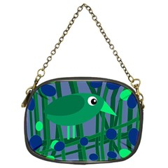 Green and blue bird Chain Purses (Two Sides)
